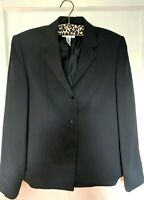 Talbots Navy Blue Blazer - Size 6 - Womens Suit Jacket Button Up - Long Sleeve
