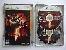 Resident Evil 5 Metal Case w Bonus Disc Collector's (Microsoft Xbox 360, 2009)