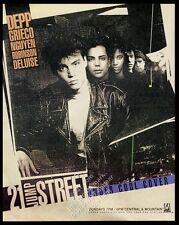 1989 21 Jump Street TV show Johnny Depp Richard Grieco photo vintage print ad