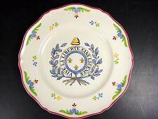 Assiette révolutionnaire moderne faïence St Amand, signée D - 25 cm