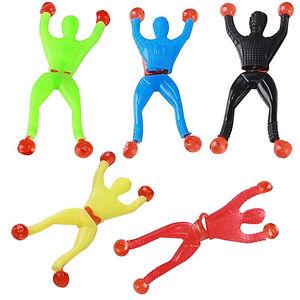 6X Window Crawler Sticky Men Wall Walker Toy Pinata Loot Party Bag Kids Fu UKPL