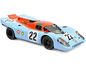 """PORSCHE 917 #22 HOBBS - ATTWOOD """"GULF"""" 24H FRANCE 1970 1/12 DIECAST NOREV 127505"""