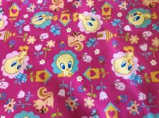 BABY LOONEY TUNES-FLANNEL-TWEETY NATURE LOVER BY DAVID TEXTILES-BY THE YARD
