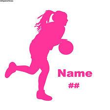 Basketball Player Decal Custom Sticker Team  PINK GIRL pony Tail