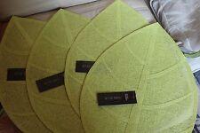 Lot 4 sets de table en forme de feuille - 50 x 33 cm