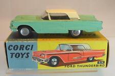 Corgi Toys 214 Ford Thunderbird 1959 mint green creme roof mit OVP #6071