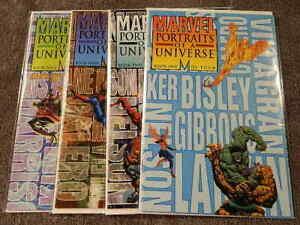 1995 MARVEL Comics MARVEL PORTRAITS Of A UNIVERSE #1-4 Complete Series Set NM/MT