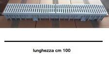 Canaletta canale con griglia di scolo plastica hdpe 100X13cm H9cm Int-H12cm Est
