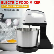 1PCS Whisk 7 Speed Stand Mixers For Egg Flour With Bowl Whisk 2 Dough Hooks