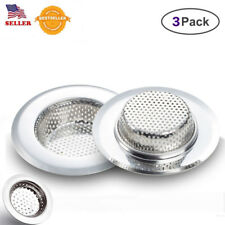 "3Pack Kitchen Mesh Sink Strainers Stainless Steel Drain Strainer 4.5"" HEAVY DUTY"