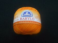 DMC Babylo Crochet Cotton Thread 50g - Size 20 Colour Orange - Colour Number 741