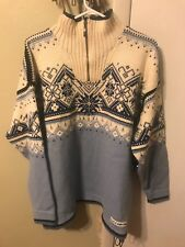 DALE OF NORWAY ~ DALE SPORT MENS SZ L NORDIC 1/2 ZIP PULL-OVER WOOL SKI SWEATER