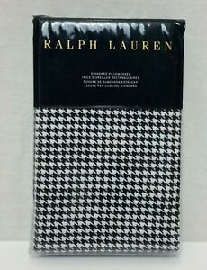 Ralph Lauren Standard Pillowcases Screening Room Cream Navy Mattea $130 MSRP