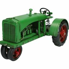 Vintage Green Tractor Metal Ornament Model Sculpture Statue Decoration Replica