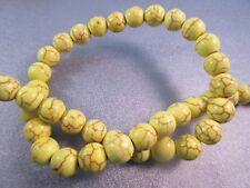 Yellow Magnesite Beads Round 10mm 42pcs