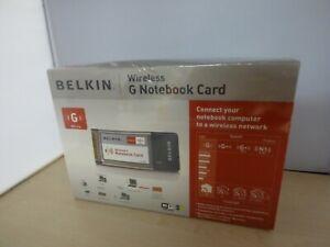 Belkin Wireless G Notebook Card - NEW Sealed    B9