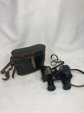 Ww2 Era Vintage Old Dupont Paris Binoculars Aurore 8x28 And Leather Case