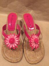 No Boundaries Flower Heel Sandals Women's 8.5 M Excellent Condition Fancy