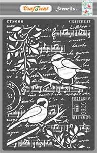 CrafTreat Bird Stencils for Painting on Wood Canvas Paper Fabric Floor Wall a...