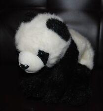 "Ty Beanie Buddies Panda Bear Bean Bag Plush Stuffed Animal 12"" Toy Black White"
