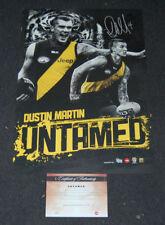 DUSTIN MARTIN RICHMOND TIGERS SIGNED UNTAMED AFL LIMITED EDITION PRINT COA