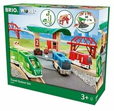 BRIO WOODEN TRAIN SET 33627 TRAVEL STATION SET nuovo - new sealed