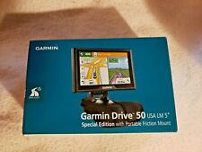 """GARMIN DRIVE 50 USA LM 5"""" SPECIAL EDITION WITH PORTABLE FRICTION MOUNT BRAND NEW"""