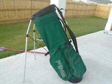 New listing Ping Hoofer Stand Golf Bag 4-Way Divider green Dual Strap System Light Weight