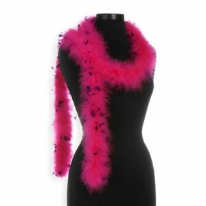 Hot Pink with Regal Purple 25 Gram Marabou Feather Boas