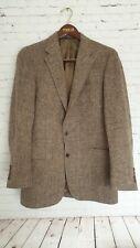 John Weitz by PalmBeach Harris Tweed Jacket Size 40R Beige Men`s Great Condition