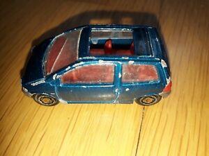 majorette renault twingo 206 1/58 voiture miniature 1994 toit ouvrant car bleu