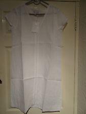 Knee Length Linen V Neck Tunic Dresses for Women