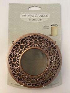 Yankee Candle ILLUMA LID Illuma Satin Grange ~ Rose Gold Candle Topper for Jars