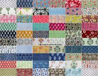 "100 Assorted BLOCK PRINT pre cut charm pack 10"" squares 100% cotton fabric quilt"