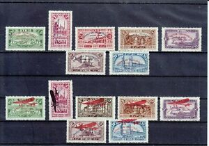 "SYRIA SYRIE   1929  ""EXPOSITION DE DAMAS""  TWO COMPL. SETS  MLH *"