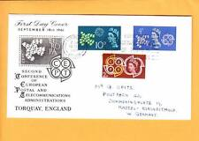 Great Britain 1st Day Set Cover Postal Telecom Admins Torquay 1961 Elizabeth Z86