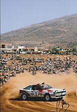 Carlos SAINZ SIGNED Rally DRIVER TOYOTA 12x8 DESERT Photo AFTAL COA Autograph