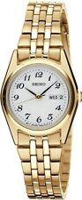 SEIKO SXA126 Women's Gold Tone Stainless Steel Analog Hardlex Crystal Watch