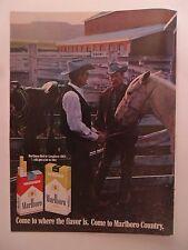 1969 Print Ad Marlboro Man Cigarettes ~ Pair of Western Cowboys