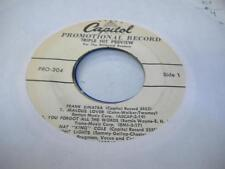 "Pop EP Promo 45 FRANK SINATRA / NAT ""KING COLE Jealous Lover / You Forgot All Th"