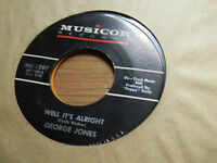 George Jones 45 Well It's Alright/Small Time Laboring Man Musicore 1297