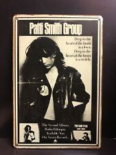 PATTI SMITH GROUP METAL Poster Vintage RETRO STYLE SMALL Metal Sign 20x30 Cm