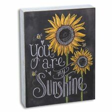 You Are My Sunshine Wood Sign Sunflowers Primitive Chalk Rustic 7.5 x 10 Country