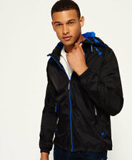 Superdry dual ZIP Through Cagoule chaquetas L-black / Royal