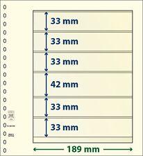 Lindner blank T-foglie mit 6 Borse im 10er Pack Arte no. 802 603