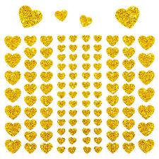 106 Herz Aufkleber mit Glitzer Effekt in Gold Herzen Sticker Scrapbooking Deko