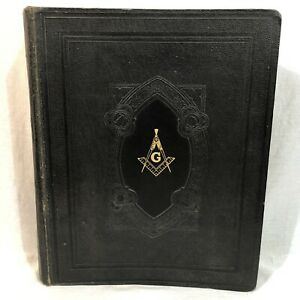 Holy Bible Masonic Edition Red Letter Cyclopedic Indexed Hertel 1949