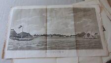 CIRCA 1790 BEAUTIFUL ORIGINAL ENGRAVING VUE DE LA VILLE DE MACAO