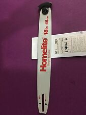 """18"""" OEM HOMELITE CHAINSAW GUIDE BAR PS06131 .325 pitch .050 gauge 72 link NEW"""