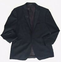 Porto Filo Mens Size 46 Black Suits Sport Jacket Extra Fine Italy Hand Tailored